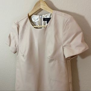Blush French Connection Faux Leather Blouse